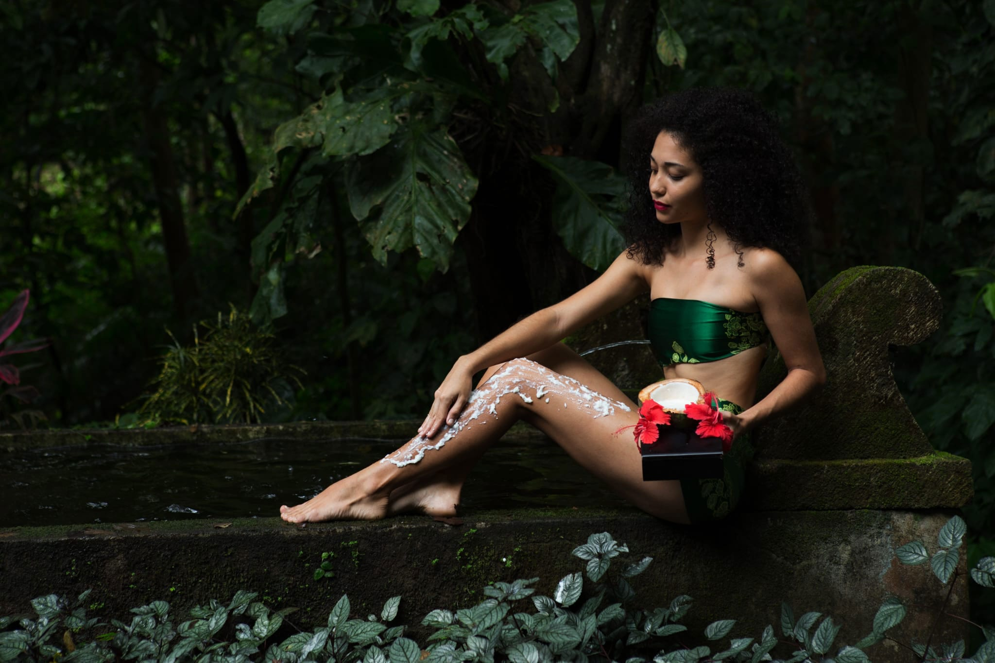 Coconut Aloe Body Wrap and Scalp Massage